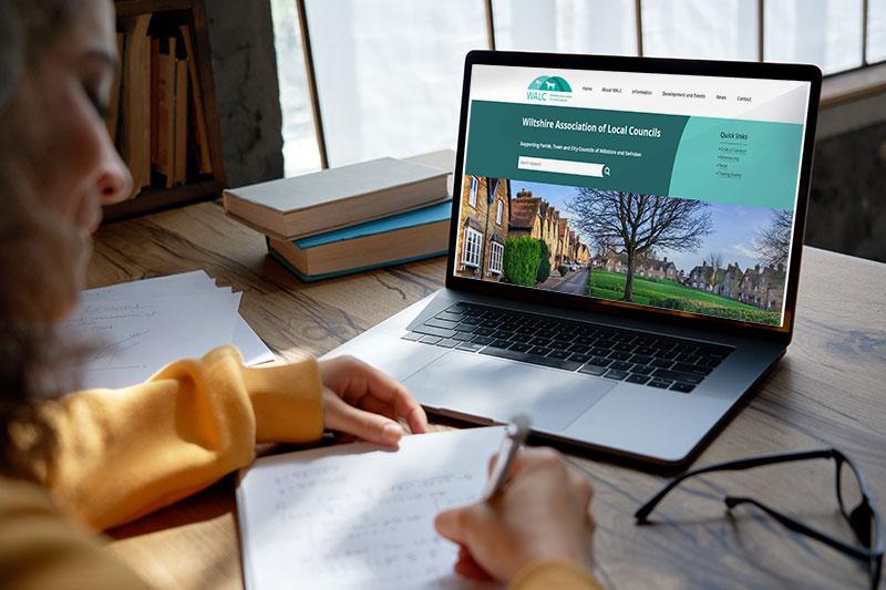 New Walc Website Shown On Laptop